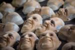 APTOPIX Brazil Pope Mask