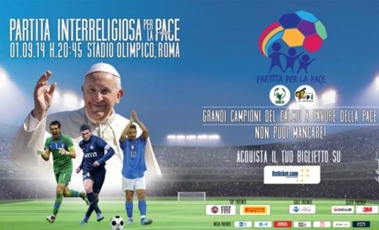 Voetbalwedstrijd voor de vrede
