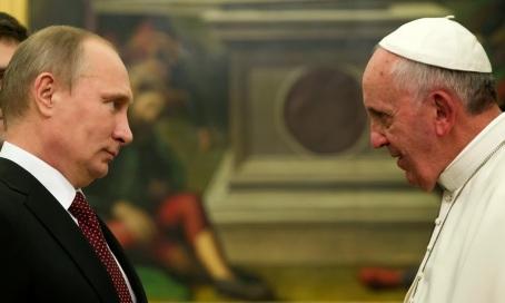 Putin and Pope Fran 11 25 13