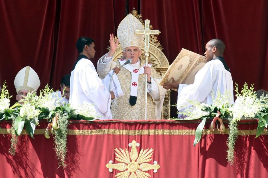 Urbi et Orbi van Paus Benedictus. Foto: Getty Images.
