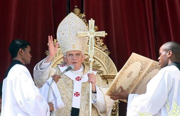 Urbi et Orbi van Paus Benedictus. Foto: Getty Images