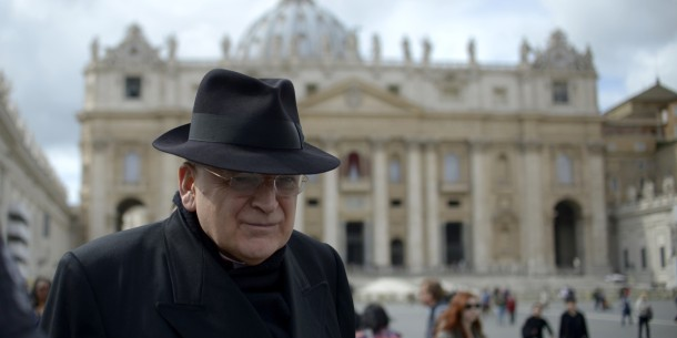 US cardinal Leo Raymond Burke walks on St Peter's square after a cardinals' meeting on the eve of the start of a conclave on March 11, 2013 at the Vatican. Cardinals will hold a final set of meetings on Monday before they are locked away to choose a new pope to lead the Roman Catholic Church through troubled times. AFP PHOTO / JOHANNES EISELE (Photo credit should read JOHANNES EISELE/AFP/Getty Images)