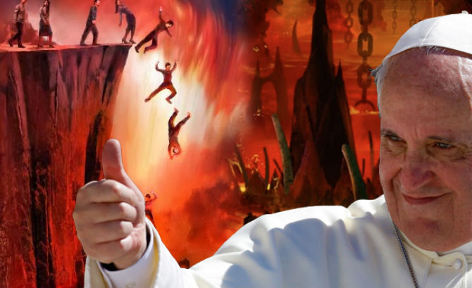 pope francis hell