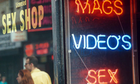 Sex shop sign advertising 'Mags, video's, sex'