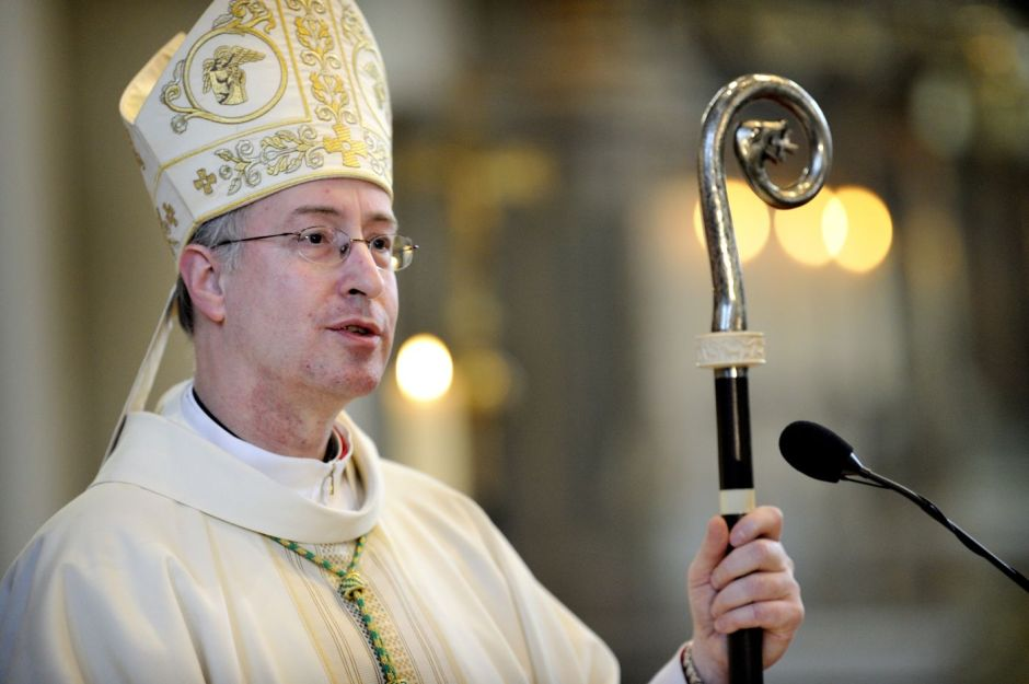 BREDA - Jan Liesen wordt zaterdag tijdens een viering in de kathedrale Antoniuskerk geinstalleerd als bisschop van Breda. ANP ROBERT VAN DEN BERGE